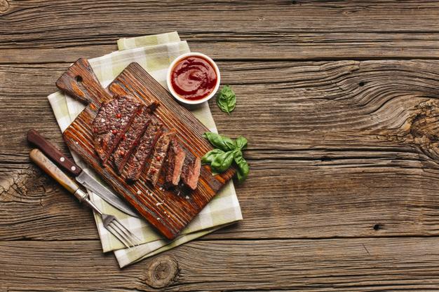 Carne rica em zinco