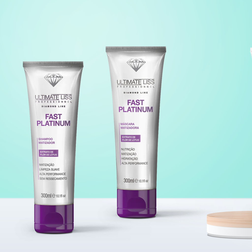 Shampoo e Máscarara Matizadora Fast Platinum Ultimate Liss