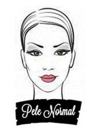 Ilustração de uma mulher com pele normal